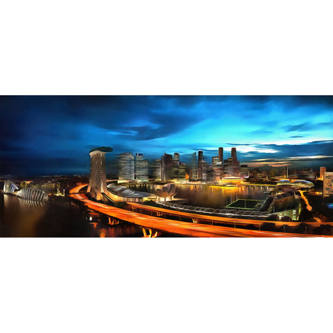 Cityscape of Singapore Canvas Wall Art Print