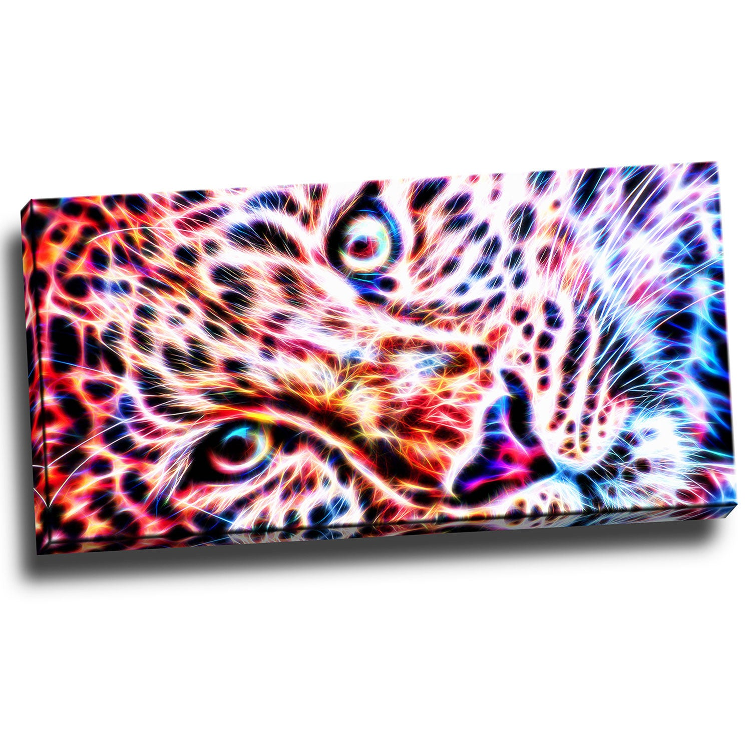 Close-Up with Cheeta Canvas Wall Art Print