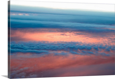 Cloudy Sky Sunset Canvas Wall Art Print