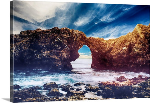 Coast Horizon Canvas Wall Art Print