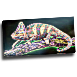 Color Chameleon Canvas Wall Art Print