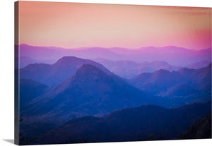 Colorful Mountains Canvas Wall Art Print