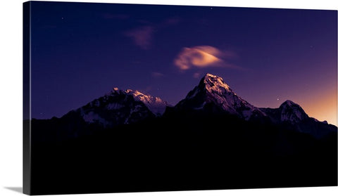 Dawn Sky Mountain Canvas Wall Art Print
