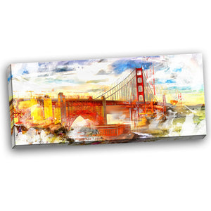 Dazzling San Francisco Landscape Canvas Wall Art Print