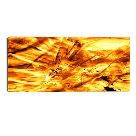 Desert Sun Abstract Canvas Wall Art Print