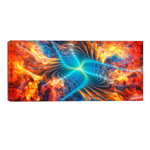Dynamic Explosion Canvas Abstract Wall Art Print