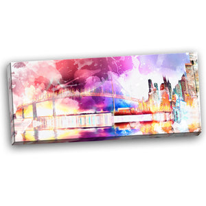 Enchanting Vivid City Night Life Canvas Wall Art Print