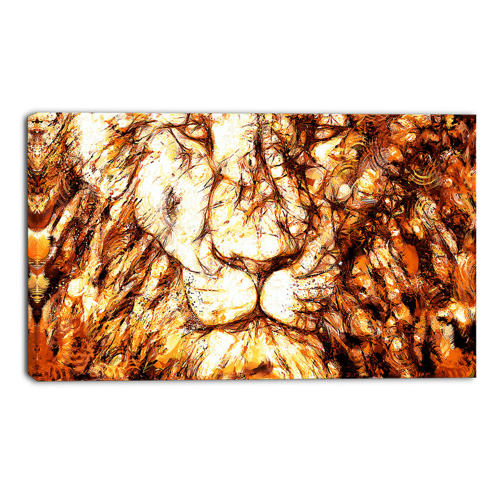 Eyes of the Lion Canvas Wall Art Print