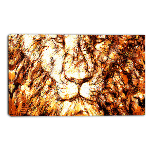 Eyes Of The Lion Canvas Wall Art Print ...