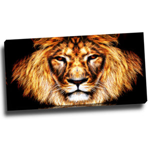 Fearless Lion Canvas Wall Art Print