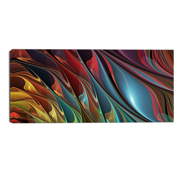 Fluorescence of You Canvas Abstract Wall Art Print