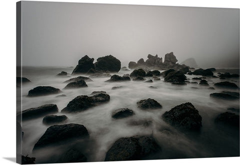 Foggy Beach Canvas Wall Art Print