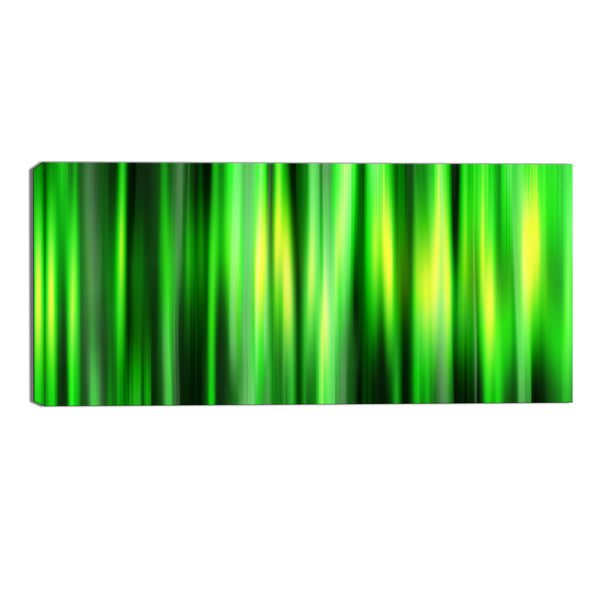 Forever Green Abstract Canvas Wall Art Print