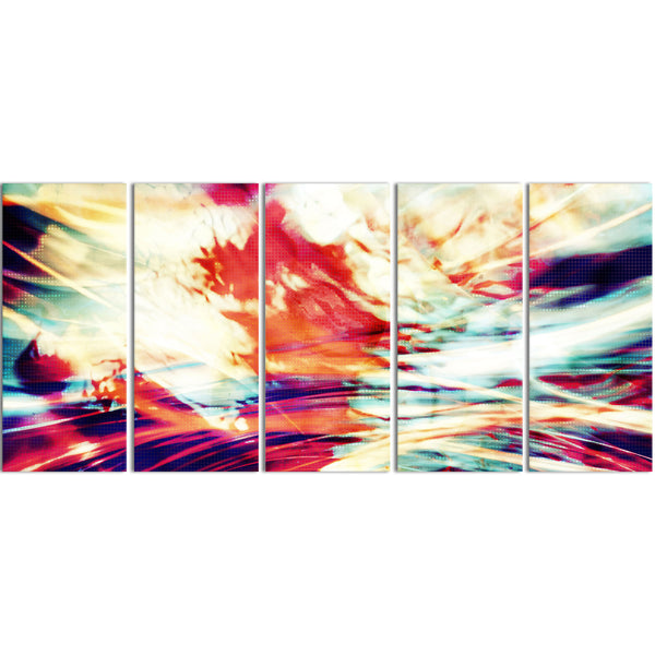 Global Windstorm Abstract Canvas Wall Art Print