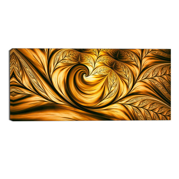 Golden Fantasy Canvas Abstract Wall Art Print