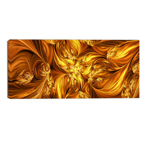 Golden Fusion Abstract Canvas Wall Art Print