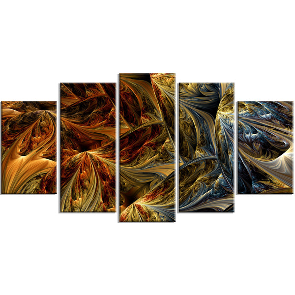 Golden Jungle Canvas Abstract Wall Art Print