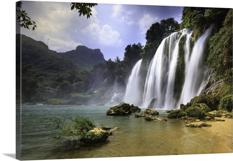 Great Waterfall Views Canvas Wall Art Print