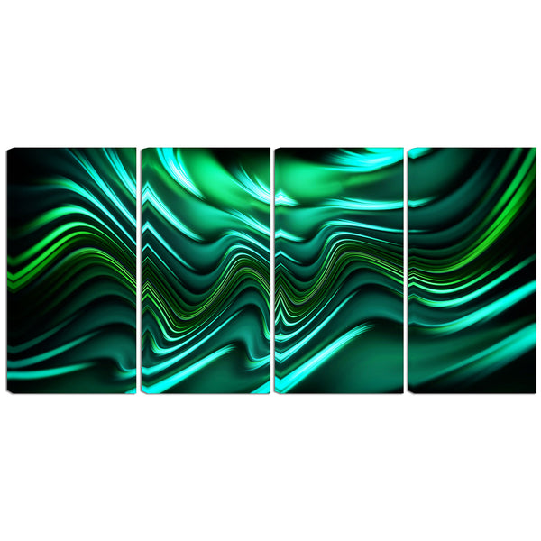 Green Intensity Abstract Canvas Wall Art Print