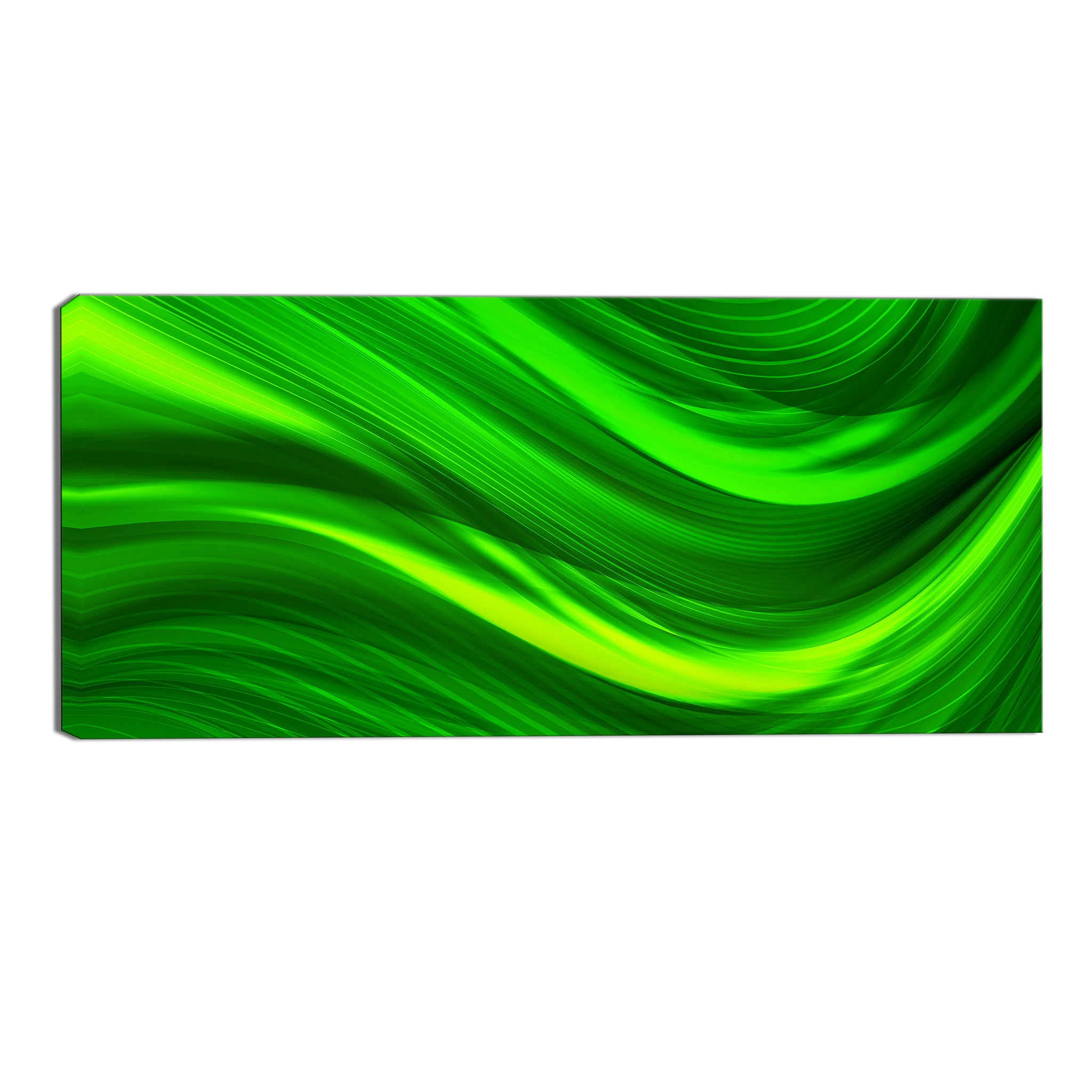 Green Streaks Canvas Abstract Wall Art Print