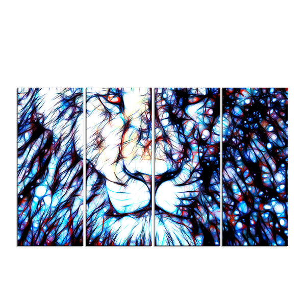 Head Lion Canvas Wall Art Print