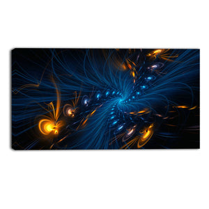 Light Speed Ahead Abstract Canvas Wall Art Print
