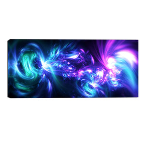 Light Up the Night Abstract Canvas Wall Art Print