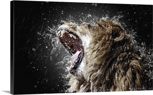 Lion Unleashed Canvas Wall Art Print