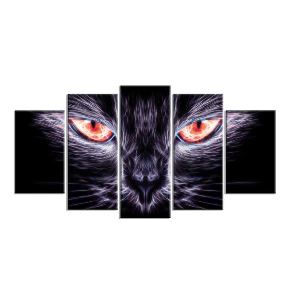 Look Into the Cat Eyes Canvas Wall Art Print