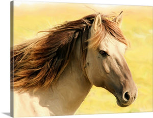 Lovely Horse Canvas Wall Art Print