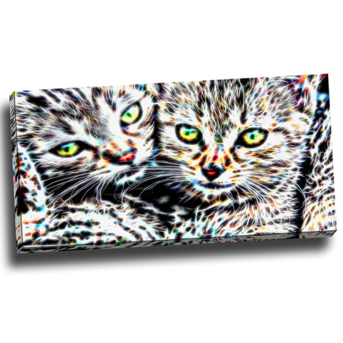 Loving Kittens Canvas Wall Art Print