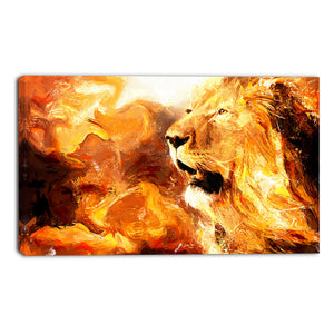 Majestic Lion Canvas Wall Art Print