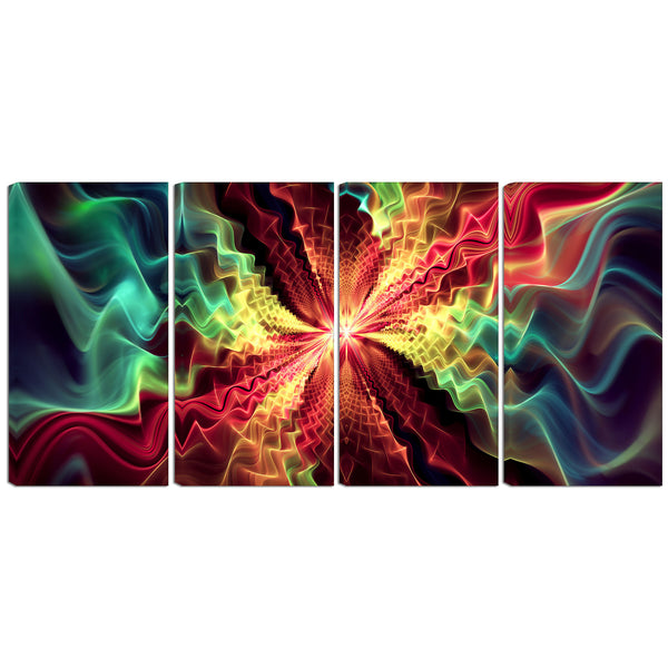 Mesmerized In Color Abstract Canvas Wall Art Print