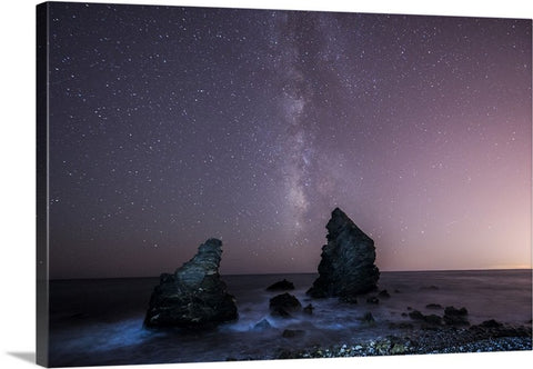 Milky Way Sea Canvas Wall Art Print