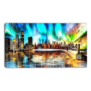 New York Vivid Cityscape Canvas Wall Art Print