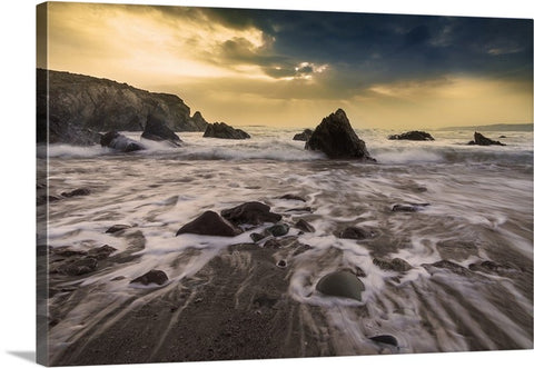 Ocean Tide Canvas Wall Art Print