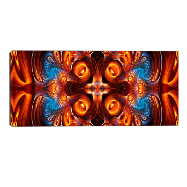 Orange and Blue Reflections Abstract Canvas Wall Art Print