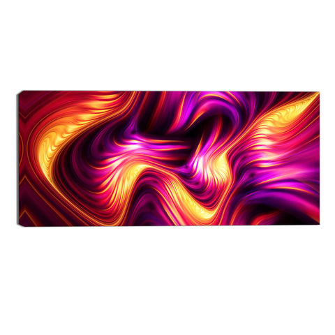 Orange and Pink Trance Abstract Canvas Wall Art Print
