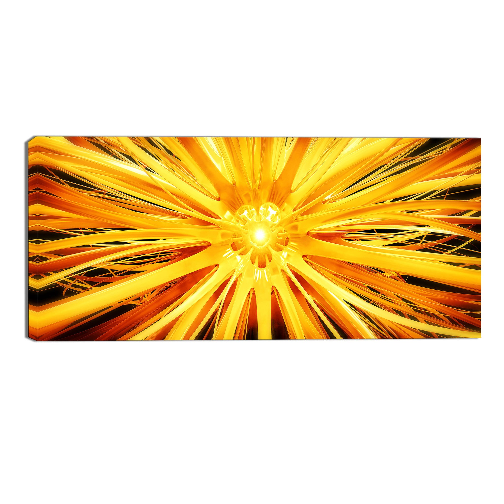 Outburst of Sunshine Abstract Canvas Wall Art Print – Accent Canvas