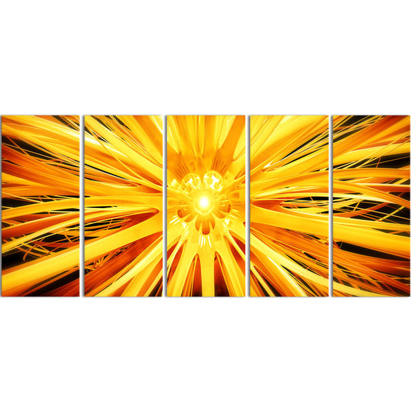 Outburst of Sunshine Abstract Canvas Wall Art Print