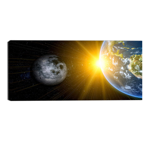 Outer Space Abstract Canvas Wall Art Print