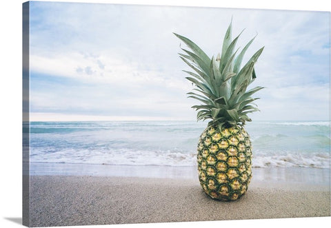 Pineapple Beach Bum II Canvas Wall Art Print