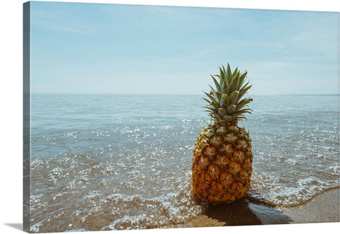 Pineapple Beach Bum I Canvas Wall Art Print