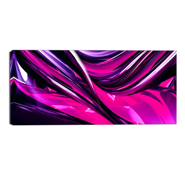 Pink and Purple Abstract Flow Canvas Wall Art Print