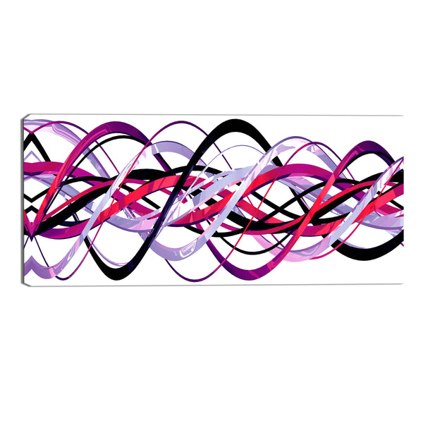 Pink and Purple Abstract Loops Canvas Wall Art Print