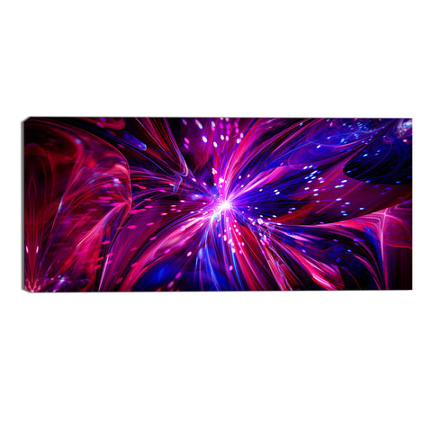 Pink and Purple Fantasy Canvas Abstract Wall Art Print