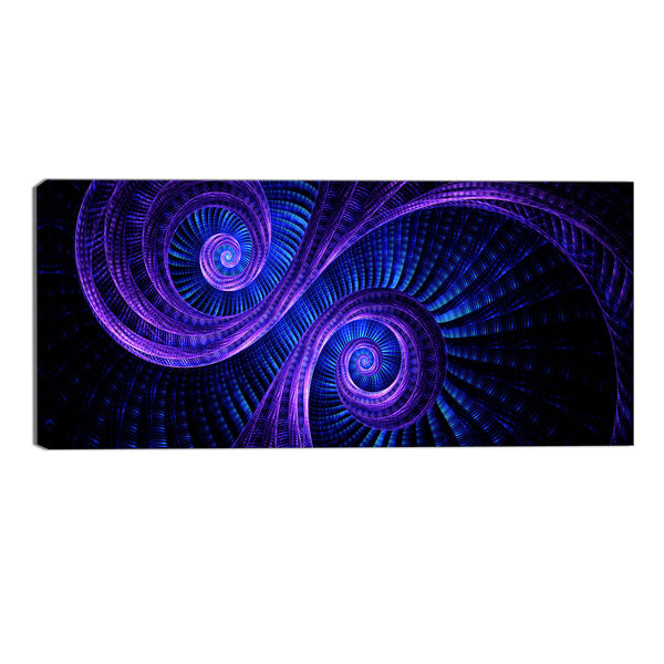 Purple and Blue Regal Abstract Canvas Wall Art Print