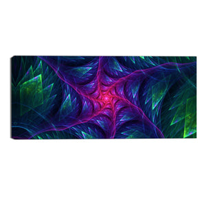 Purple Transformer Abstract Canvas Wall Art Print