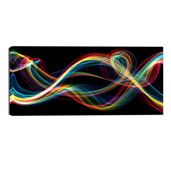 Rainbow Haze Abstract Canvas Wall Art Print