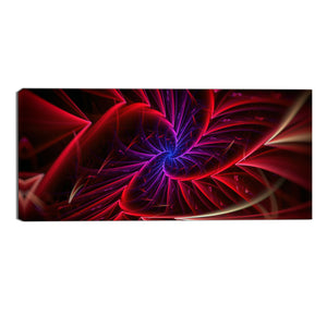 Red and Purple Abstract Intertwined Canvas Wall Art Print